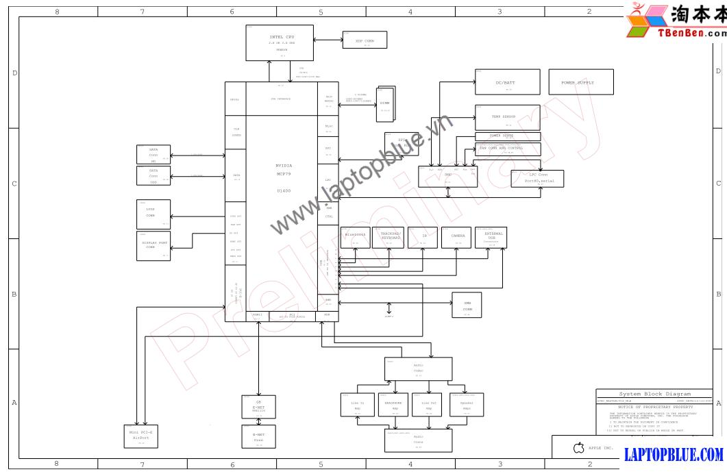 MacBook a1278-M97 051-7537_A000 820-2327-A schematic | Dạy ... on